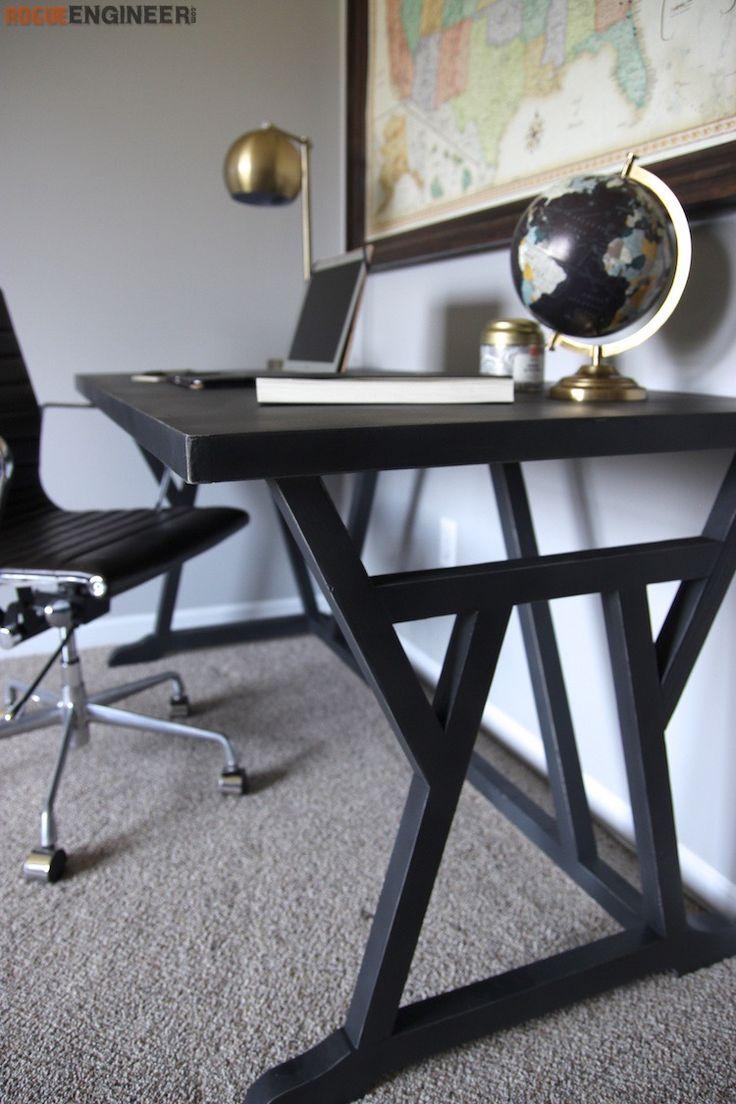 office desk blueprints. DIY Truss Desk Plans- Free Plans | Rogueengineer.com #TrussDesk#HomeofficeDIYplans Office Blueprints N