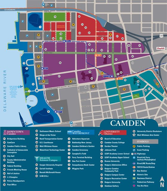 Map Website: Very Clean And Color-coordinated. {Camden University Map