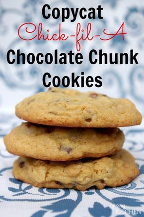 Copycat Chick-fil-A Chocolate Chunk Cookies ~ If you prefer crunchy cookies then this is not the recipe for you.  But if you love soft cookies filled with lots of yummy chunks then you need to make these cookies!  ASAP!