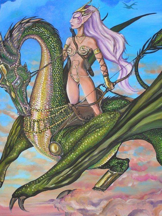 Elfa y dragón