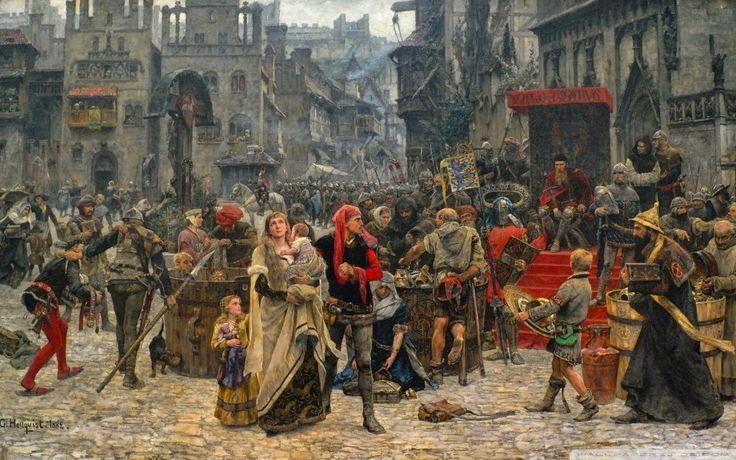 Varga Csaba Béla: Santa és az Éj asszonya |  Picture Of The Middle Ages wallpaper