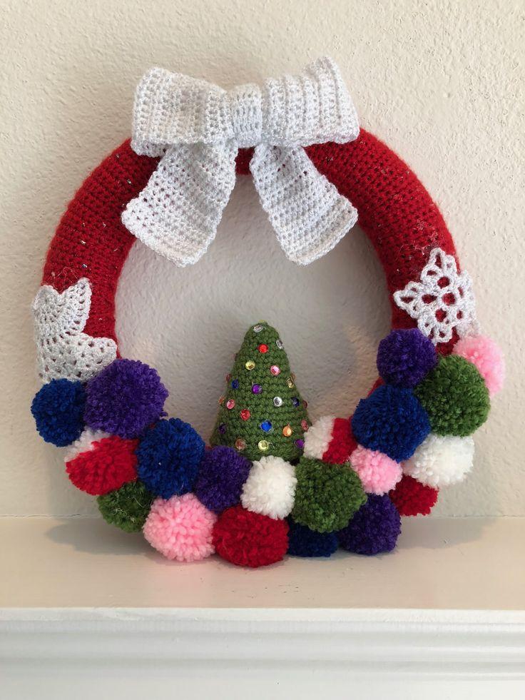 91 besten Weihnachtskränze Bilder auf Pinterest | Häkeln, Kronen und ...