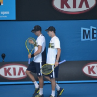 Mike and Bob Bryan at the Australian Open 2012