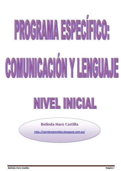 PROGRAMA ESPECÍFICO COMUNICACIÓN Y LENGUAJE NIVEL ...