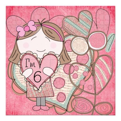 Hearts and Love Birthday Invitation