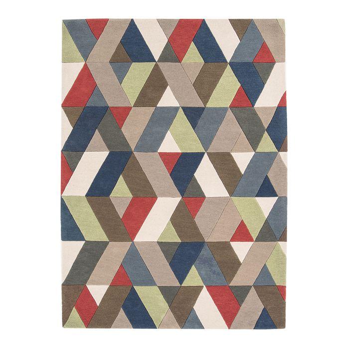 Chevron multicoloured rug large