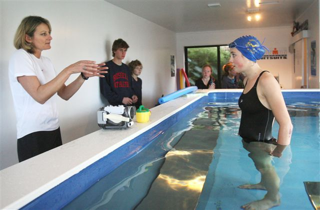The instant analysis and quick communication available for swim coaching only in an Endless Pool.