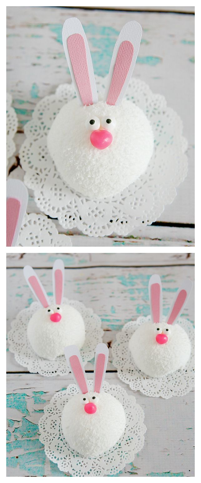 Easter Treats   Cutest little Easter bunnies made out of snowballs!