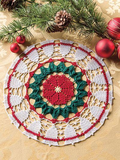 Crochet Christmas doily pattern