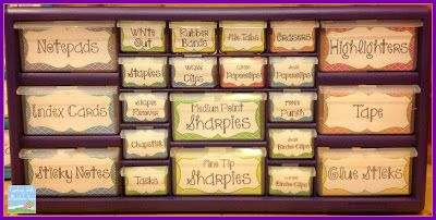 Teacher Toolbox Organizer...At last! Free printable templates to make your own.  It's a must-do!