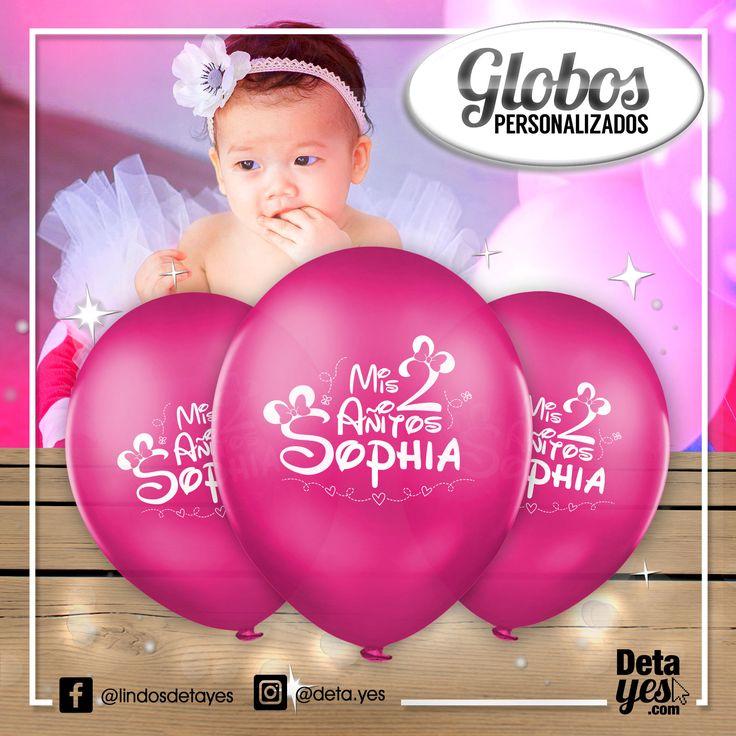 Globos Personalizados para Fiesta de Cumpleaños 2 Añitos, Somos @deta_yes , Envíos a Toda Colombia, Pedidos 3185657519