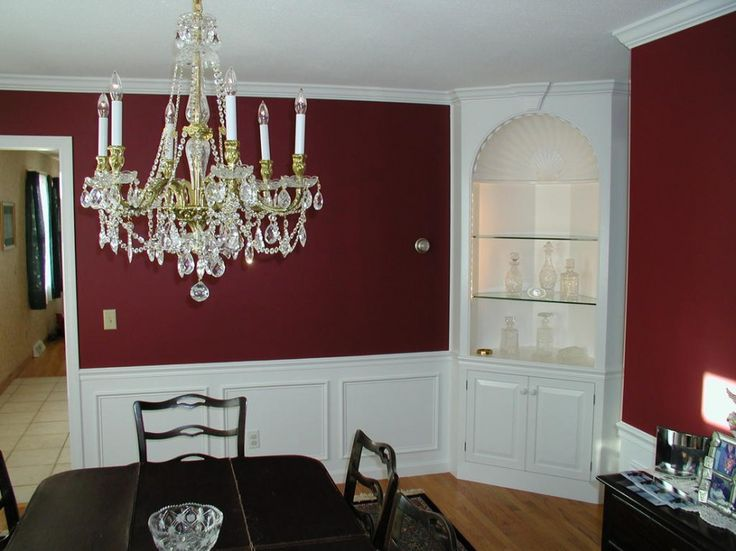 dining room cabinet ideas gorgeous corner cabinet in dining room with maroon wall paint ideas. Interior Design Ideas. Home Design Ideas