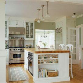 Kuchyňský ostrůvek s masivní deskou a dřezem