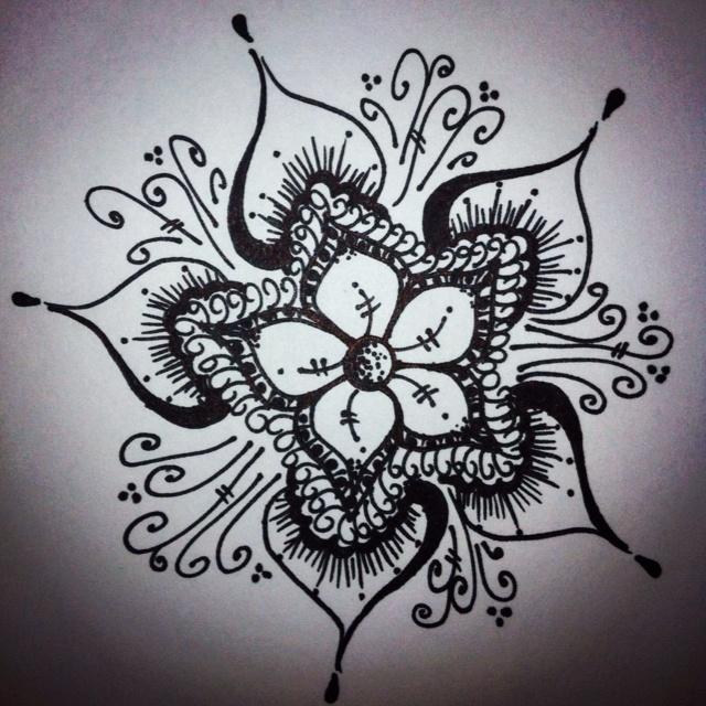 Sharpie drawing-By: Anna Williams | Artsy | Pinterest | Anna Sharpie Art Flowers