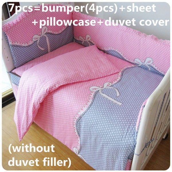 (42.80$)  Watch more here  - Discount! 6/7pcs 100% Cotton Baby Bedding Set Cot bedding set crib set  ,120*60/120*70cm