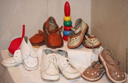Винтажная обувь. Ярмарка Мастеров - ручная работа. Купить Детские  ботинки. Винтаж. Handmade. Обувь для кукол, обувь для детей, обувь