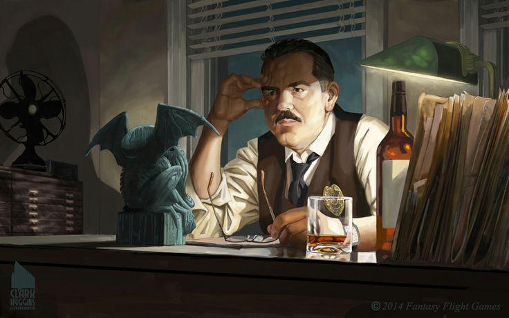 Inspector John Legrasse by Clark Huggins   / http://www.clarkhugginsillustrations.com/portfolio/paintings/