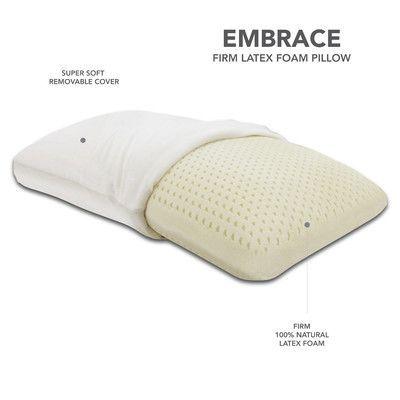 Classic Brands Embrace Firm 100 Percent Ventilated Dunlop Latex Foam Pillow Size: Queen