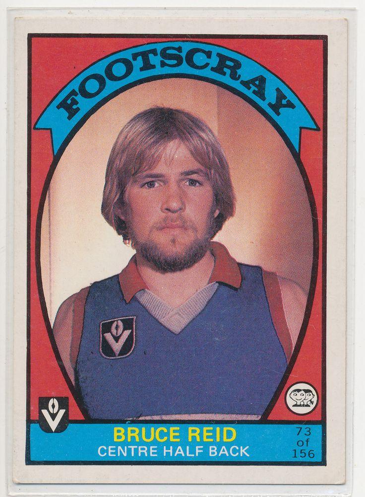 SCANLENS VFL AFL 1978 FOOTBALL FOOTY CARD BRUCE REID FOOTSCRAY BULLDOGS 73 NICE au.picclick.com