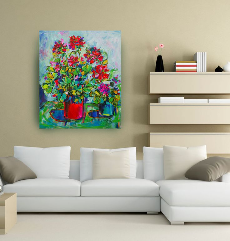 Katerina Apale Virtual wall for my painting  92x76cm facebook.com/katerina.apale.art Instagram Apale.art #katerinaapale #apaleart #painting #australianart #geranium #blossom