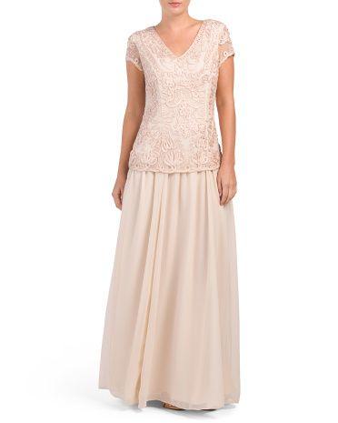 3e987e597c7 Lace Top With Plain Skirt Dress - Formal - T.J.Maxx