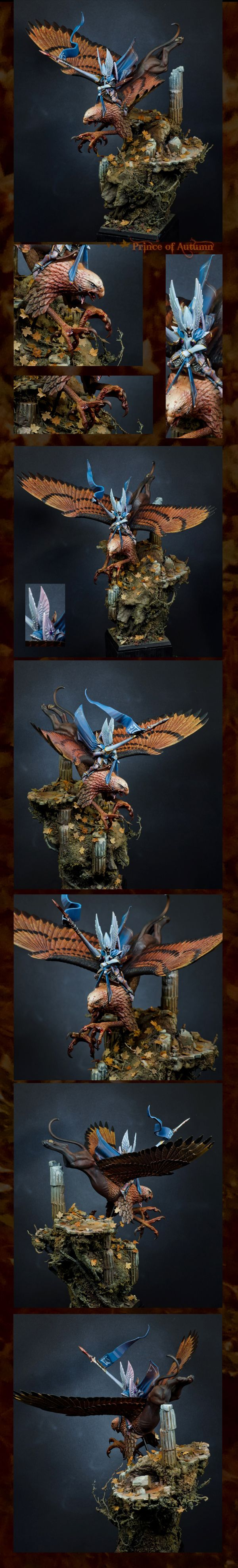Prince of Autumn - High Elf Prince on Griffon