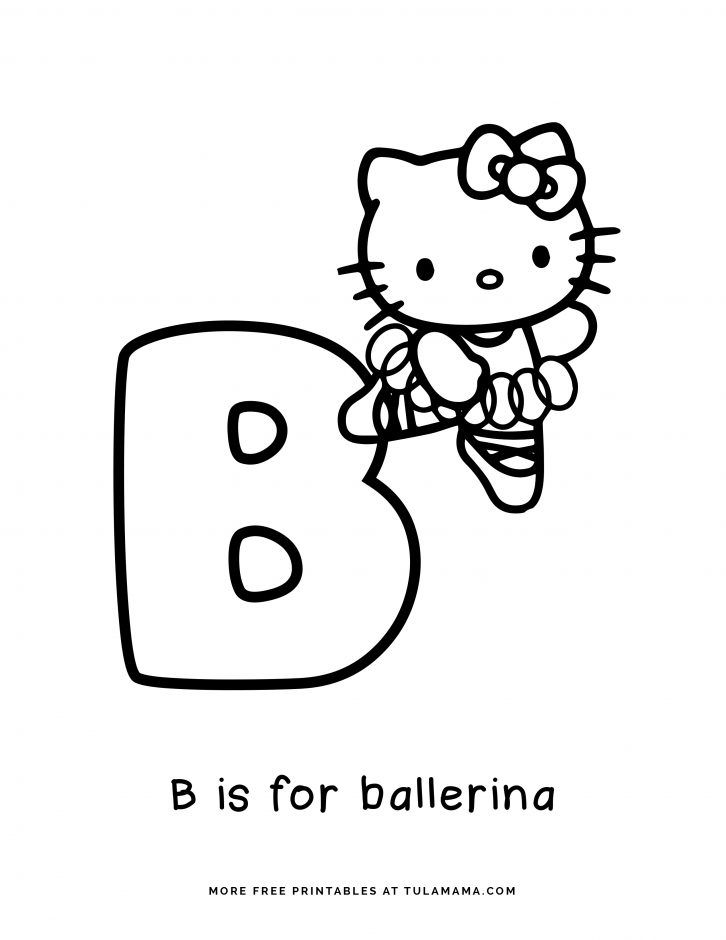 Free Hello Kitty Printables And Abc Coloring Pages In 2021 Hello Kitty Printables Abc Coloring Pages Abc Coloring
