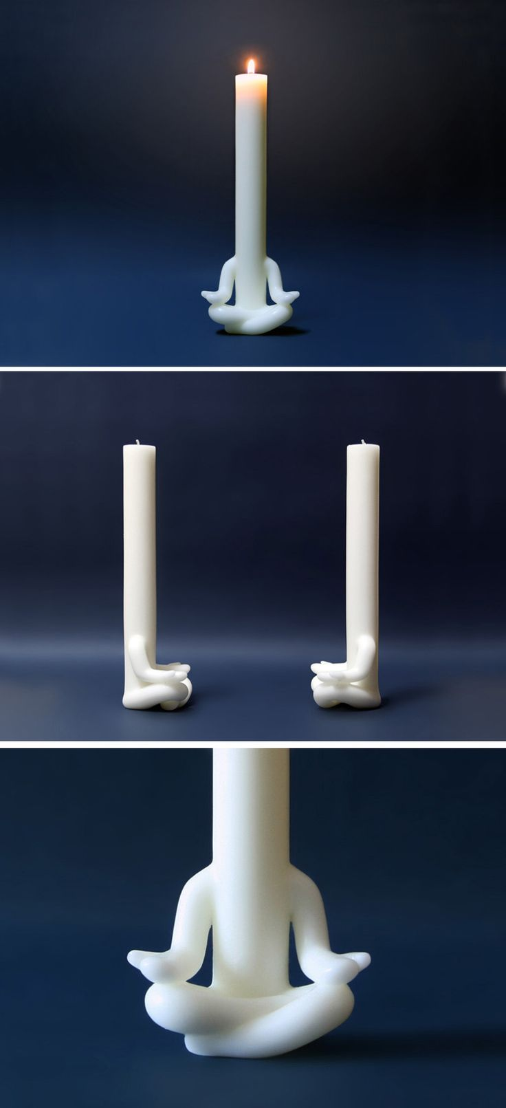 Korean design studio AND (also known as Art N Design) have created Candleman, a little human figure candle that appears to be meditating.