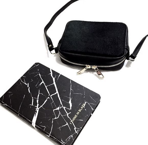 #minibag #leatherbag #leather #marble #notebook #black #ponyhair #calfhair #bag #crossbodybag #melbournedesigner #luxe