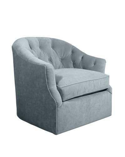 Best Rae St Clair Sky Blue Velvet Swivel Chair Swivel Chair 400 x 300