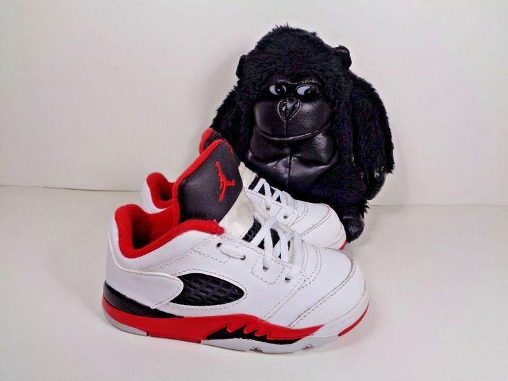 Babies Nike Air Jordan Retro 5 Low Fire Red Basketball shoes size 7C 314340-101 #Nike #Basketball