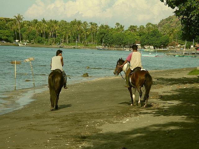 horseriding along the beach
