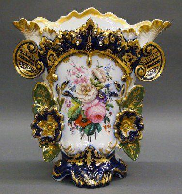 Old Paris Porcelain Vase : Lot 32