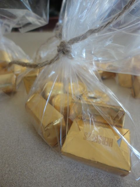 "Hershey Gold Nuggets for food table decorations.    Occasionally Crafty: Ahoy! A ""Jake and the Neverland Pirates"" Birthday Party!"