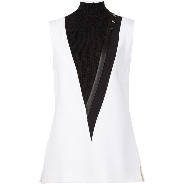 Mugler turtleneck sleeveless blouse (6.105 BRL) ❤ liked on Polyvore featuring tops, blouses, white, white sleeveless turtleneck, turtle neck top, sleeveless blouse, sleeveless turtleneck and sleeveless turtleneck top