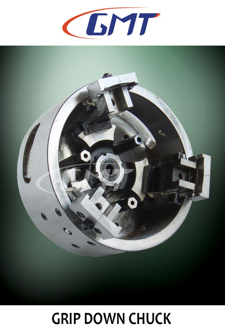 GMT Grip Down (Pull Down) Chuck is ideal for finishing operations. The radial and pull-back function of the chuck ensures positive resting of the component after clamping. #guindymachinetools
