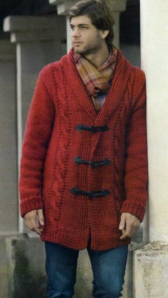 Hand Knitting Designs Sweaters For Men : Made to order men s sweater hand knitted