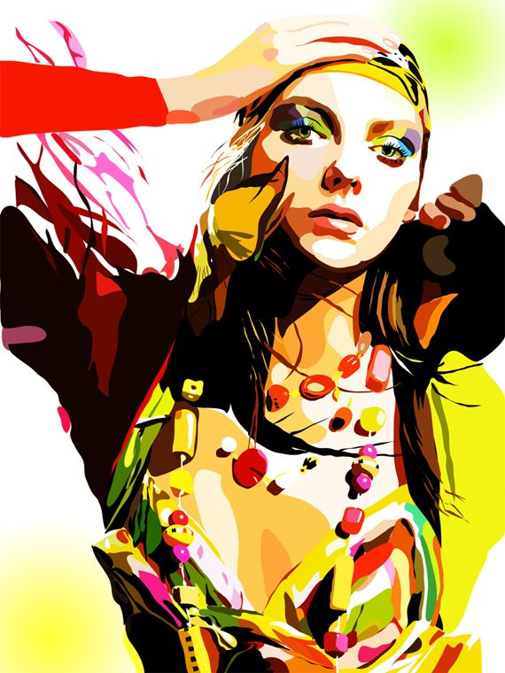 Vector...Love the way this artist uses color
