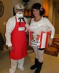 Colonel Sanders and his Bucket of Chicken Costume - 2013 Halloween Costume Contest