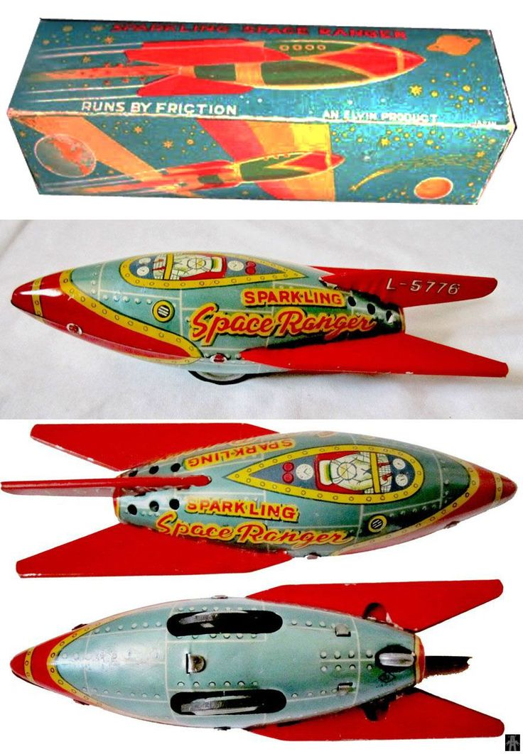 Space Rockets - SPARKLING SPACE RANGER L-5776 - SI - JAPAN - ALPHADROME ROBOT AND SPACE TOY DATABASE