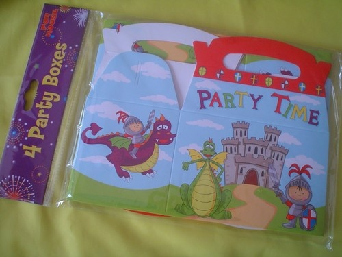4 PARTY FOOD BOXES - DRAGON & KNIGHT !!! | eBay