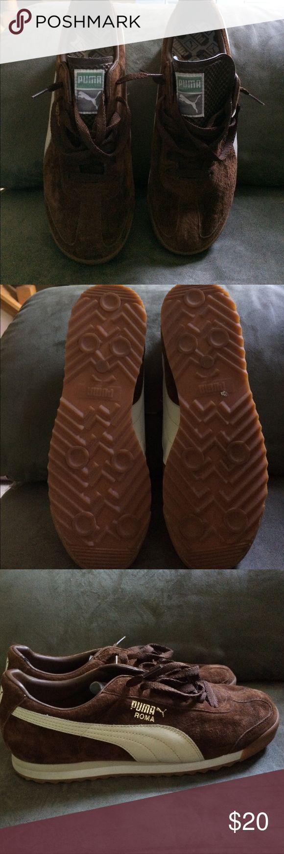 Men Puma sneakers Brown suede lightly worn Puma Shoes Sneakers