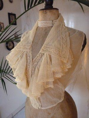 Ivory Net & Lace Dickey ~ Vest, ca. 1915