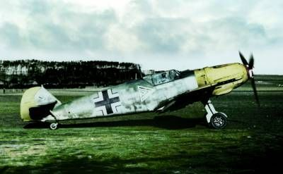 The BF 109E escort for the bombers.