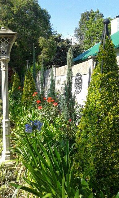 Formal flower bed in front garden