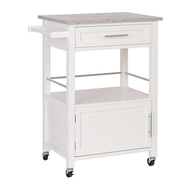 Mitchell White Kitchen Cart
