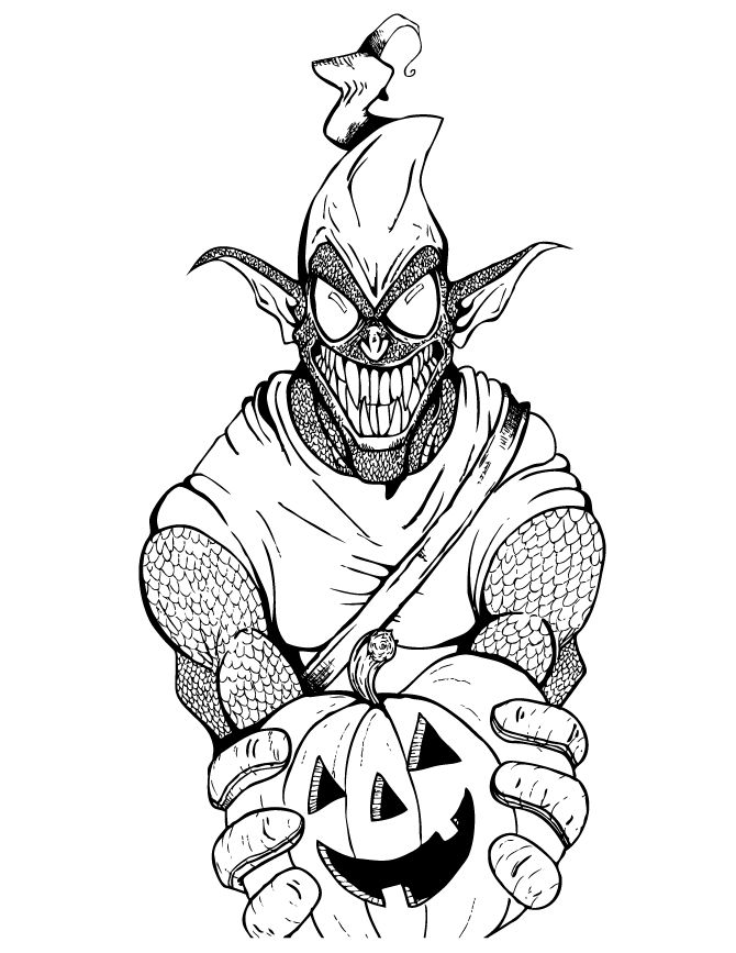 Green Goblin And Spiderman Coloring Pages