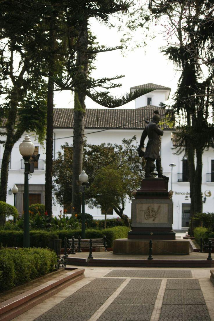Parque de Caldas. Popayán. Foto por Gloria Vejarano