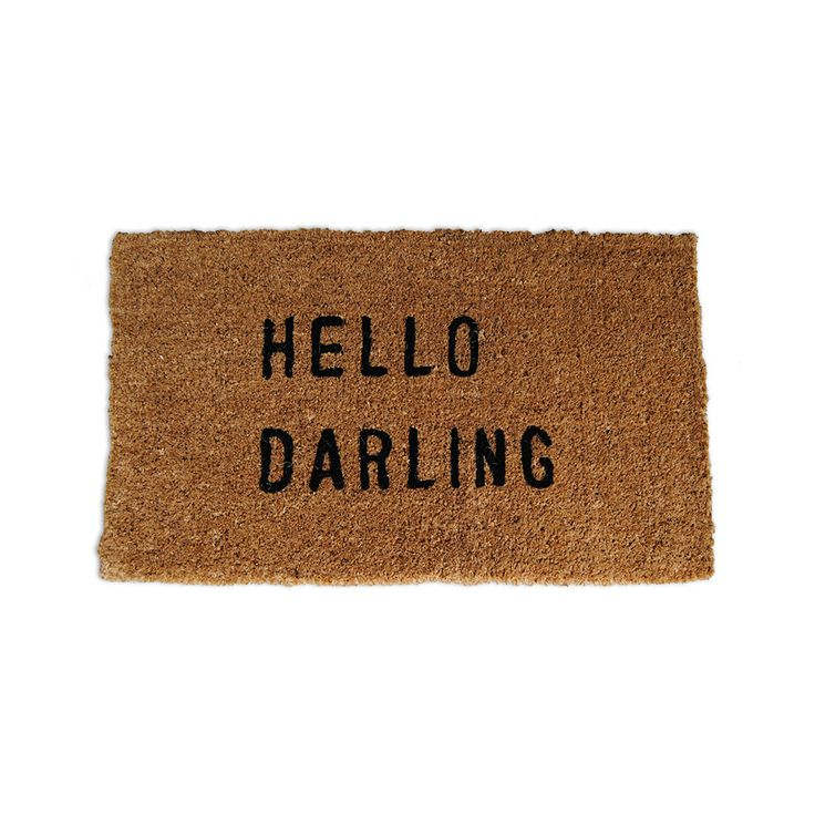 Hollo Darling Welcome Mat | dotandbo.com