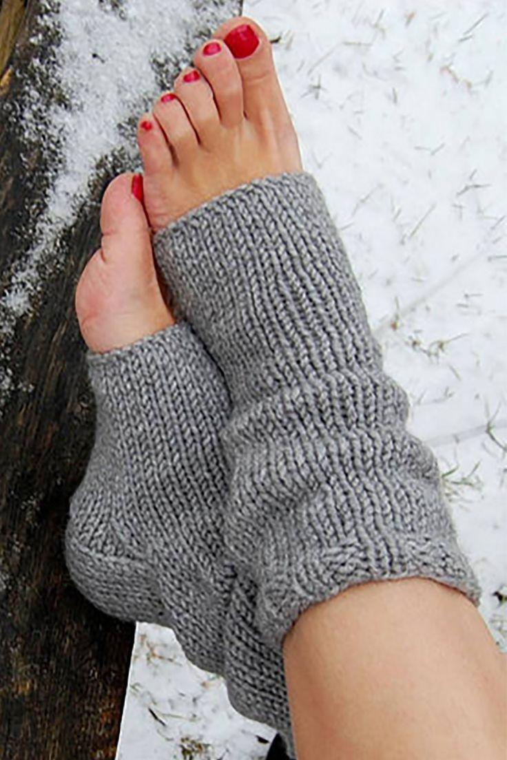 Grey Flip Flop Socks
